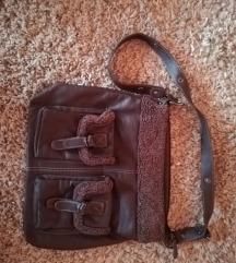 Rjava torbica za čez ramo