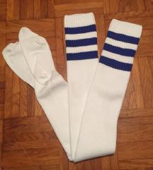 Bele visoke nogavice nadkolenke št.39