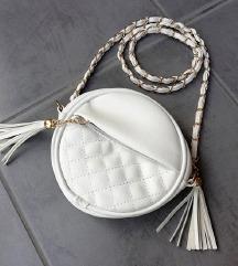 ZNIŽ.Nova bela okrogla torbica