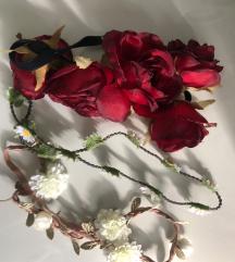 Novi trakovi za lase z rožami