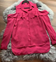 NOVA off-shoulder roza srajčka