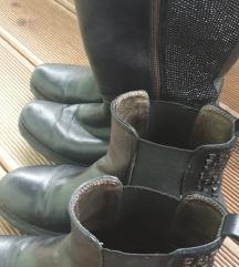 Komplet usnjenih Tosca Blu gležnarjev&škornjev 37