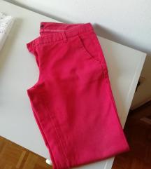 Sisley rdeče hlače