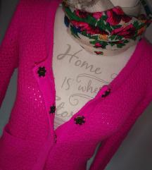 NOVA neon pink pletena volnena jopica 🌸