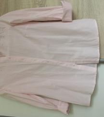nežno roza srajica s perlicami