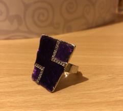 Nov nastavljiv unikat prstan
