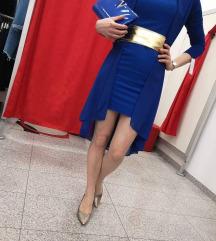 Elegantna svečana kraljevsko modra obleka