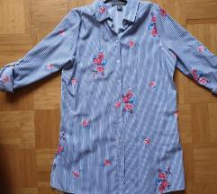 Črtasta srajca z rožicami