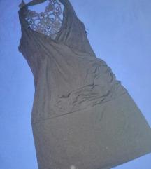 Crna tunika/ oblekica s cipko na hrbtu AKCIJA 2€