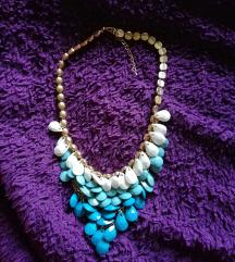 Nova modro bela ogrlica AKCIJA 3€!