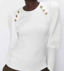 ZARA pulover z zlatimi gumbi