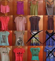 Kratke majčke, srajce & tunike 6 za 10 eur
