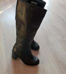 Top Shop črni usnjeni škornji 38 MPC 135€