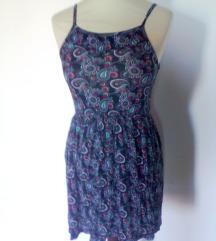 etno obleka  mini,modra XS-S