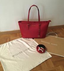 Michael Kors rdeča torbica + Hermes pas
