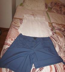 komplet hlače + bela bluza H&M št.40