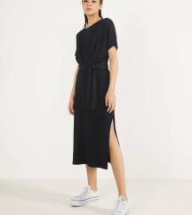 črna midi obleka