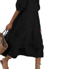 Črna daljša obleka