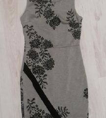 Asimetrična obleka, čudovita, XS