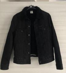 H&M črna jeans jakna podložena z ovčko