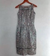 Massimo Dutti srebrna obleka 36