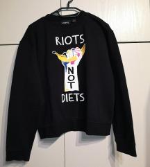 Asos črn oversized pulover
