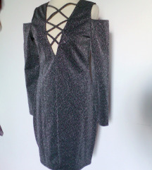 modna svetlikajoča obleka,M