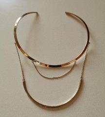 Modna zlata ogrlica