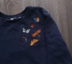 C&A pulover z metuljčki S/M