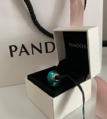 Orig.Pandora charm z muranskim steklom