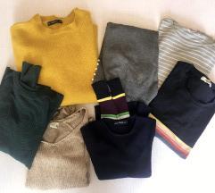 Zara, Pull&Bear, H&M puloverji