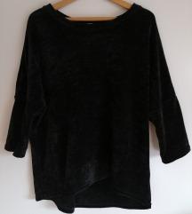 Črn žameten pulover Orsay