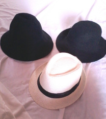 3x različni klobuki-zimski in poletni