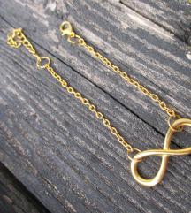 Zlata zapestnica infinity