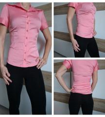 Roza bluza s kratkimi rokavi, XS/34