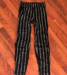 Črno- bele baggy/comfy hlače :)
