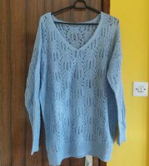 Orsay NOV baby blue svetleč pulover