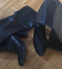 ZARA usnjeni over knee škornji