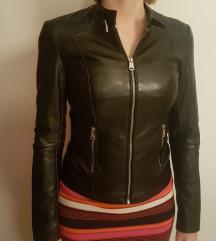 Črna usnjena jakna XS