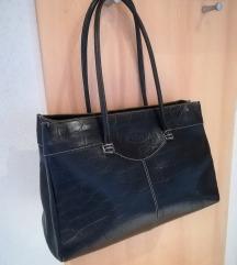 Velika črna usnjena torba Tod's