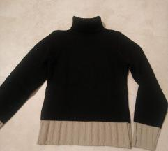 Črno bež pulover