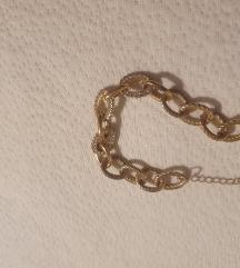 Zlata zapestnica s kristalčki 585