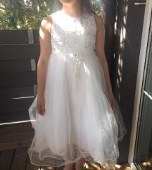 Bela svečana oblekica 9-12 let