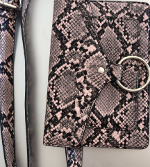 Mini torbica s kačjim potiskom
