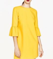 Zara NOVA rumena obleka