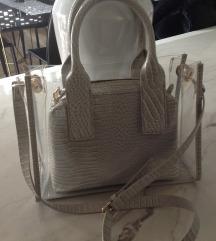 ZARA nova torbica v sivi barvi 2v1