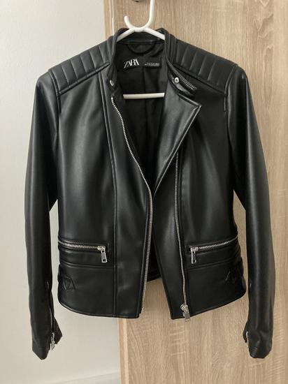 Usnjena jakna Zara XS