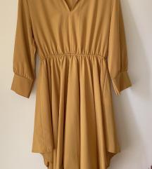 Rumena asimetrična srajca/obleka
