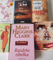 Komplet 6 knjig za 15 eur