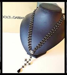 🌺 Dolce&Gabbana/Rosary ogrlica z dragimi kamni